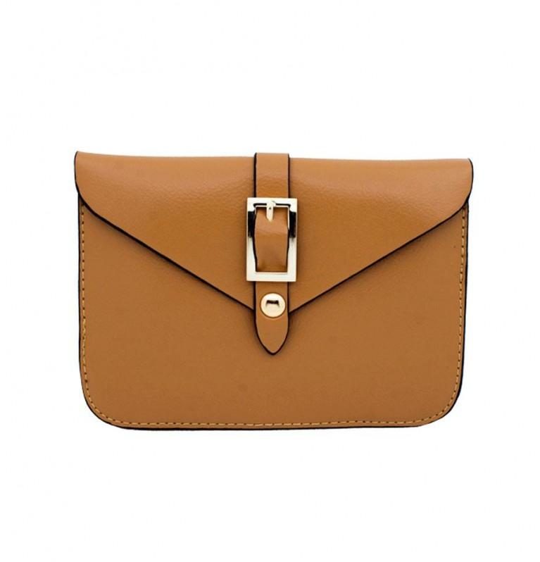 Belt Buckle Mini Crossbody Bag In Brown