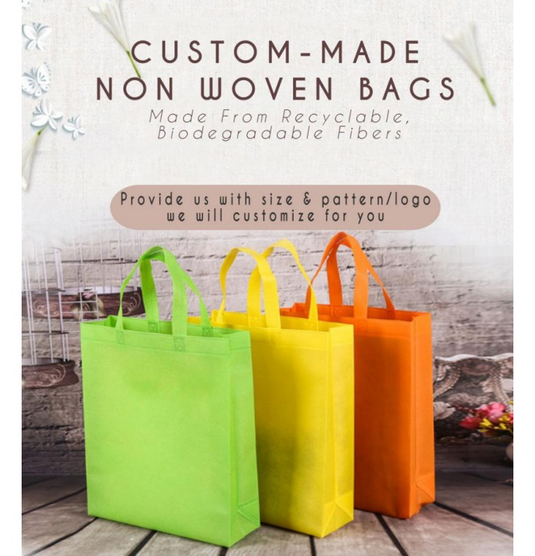 Non Woven Eco Friendly Bag | Suitable for Customization or Tailor Made - 3 in a Set [Logo Printing Available]