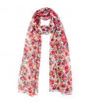 Eureka Flower Scarf in White