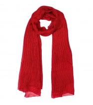 Mini Dotties Scarf in Cherry Red