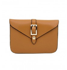 Belt Buckle Mini Crossbody Bag In Brown