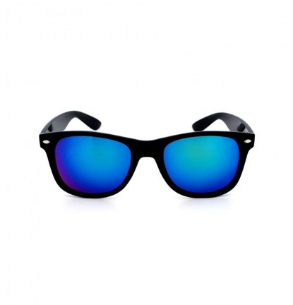 Classic Designer Sunglasses In Reflective Blue/Green
