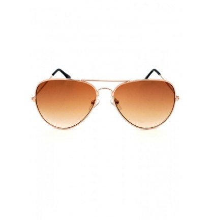 Metal Pilot Sunglasses In Brown