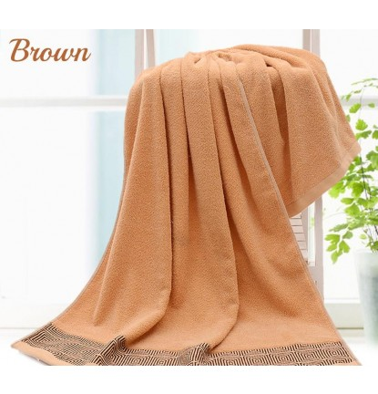 100% Pure Cotton Bath Towel - Brown