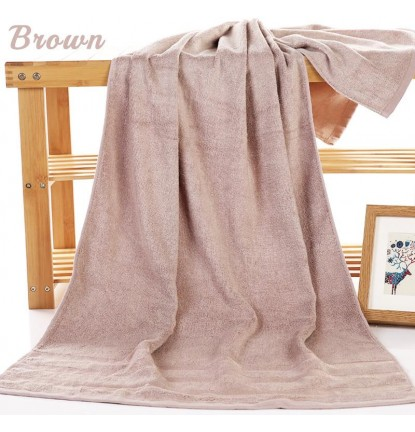 Premium Absorbent Bamboo Fiber Bath Towel in Brown