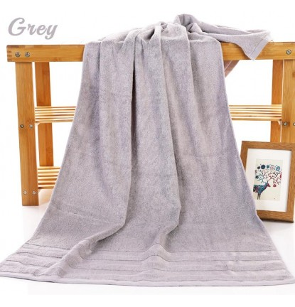 Premium Absorbent Bamboo Fiber Bath Towel in Grey