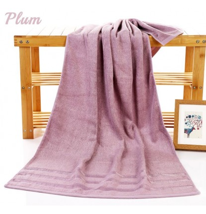 Premium Absorbent Bamboo Fiber Bath Towel in Plum