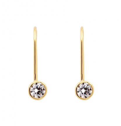 U Turn Diamante Earring in Gold
