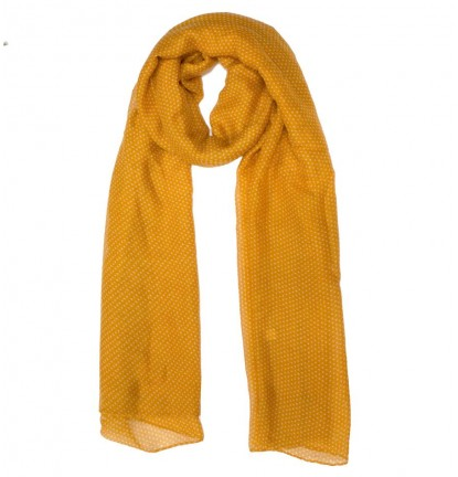 Mini Dotties Scarf in Mustard