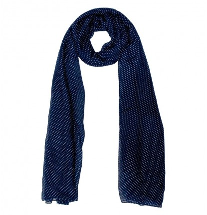 Mini Dotties Scarf in Navy Blue