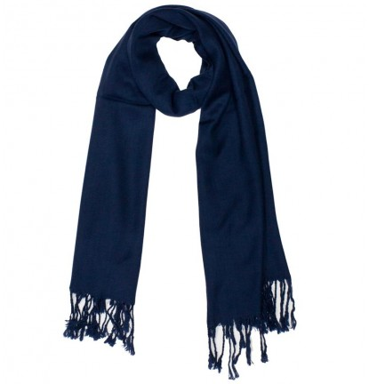Plain Jane Scarf in Navy Blue