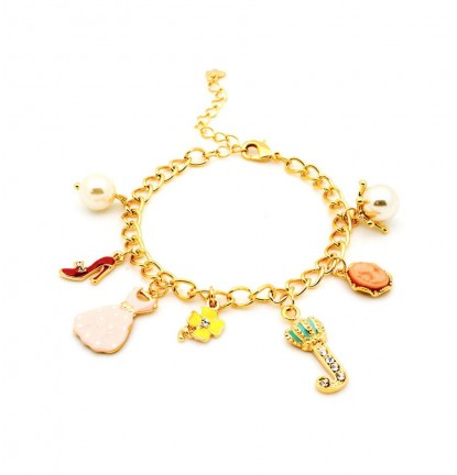 Princess Wardrobe Charm Bracelet in Gold
