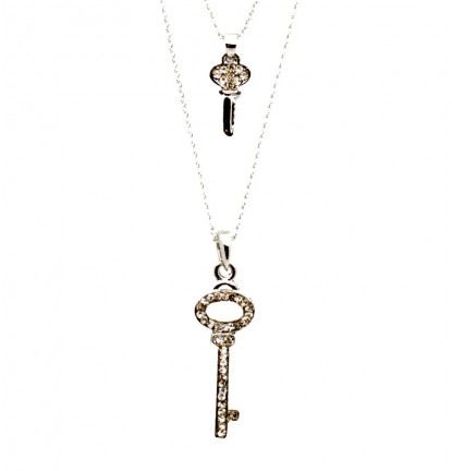 Sofia's Key Necklace in Silver