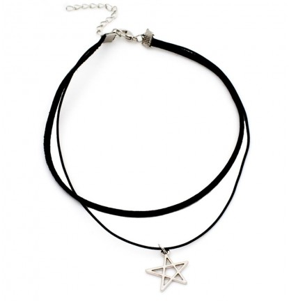 Hollow Star Double Layer Choker